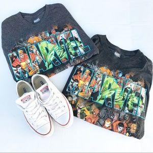 Marvel XL and M  Dark Grey Super Heroes T-Shirts